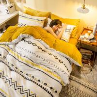 【官方旗舰店】珊瑚绒棉绒四件套单人卡通儿童学生床上三件套A全棉晶绒被套罩