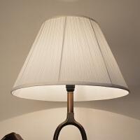 灯罩外壳罩配件布艺台灯落地灯客厅卧室床头白色圆形田园欧式现代