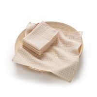 欧孕婴儿毛巾纯棉手帕宝宝口水巾有机彩棉纱布小方巾手绢