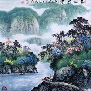 中国青年美术家协会常务理事,国家一级美术师,中国山水画院专业画家,山东省美协会员高云鹏(春山雅居)
