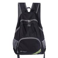 户外可折叠双肩包超轻便携旅行背包男女书包儿童运动皮肤包登山包 黑色 20升以下