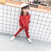 童装 儿童运动套装2018春秋男女童宽松休闲两件套 宝宝纯棉卫衣裤