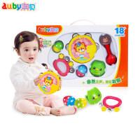 Auby/澳贝奥尔夫乐器6件装宝宝启蒙乐器铃鼓组
