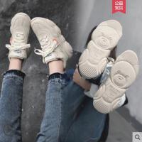超火网红智熏鞋子小熊鞋ins老爹鞋女新款加绒运动小白鞋