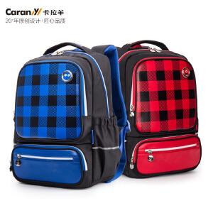 卡拉羊书包小学生男女孩1-3-4-5年级儿童韩版双肩包减负护脊背包CX2748