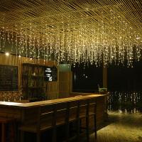 LED网红圣诞星星彩灯闪灯串灯浪漫房间装饰灯瀑布灯窗帘挂灯卧室