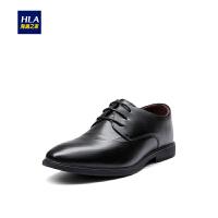 HLA/海澜之家系带款光泽皮鞋2019春季新品商务正装皮鞋男