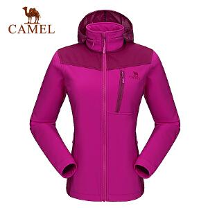 camel骆驼户外软壳衣 女款外套防风保暖时尚软壳衣