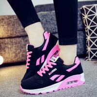 跑步鞋女 春季女鞋时尚透气网面跑步鞋休闲鞋潮鞋 气垫增高运动鞋女