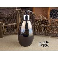 釉变陶瓷乳液分装按压空瓶家居酒店洗发水沐浴露洗手液容量400ML