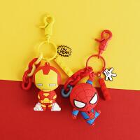 复仇者联盟钢铁侠钥匙扣链挂件男士美国队长蜘蛛侠公仔漫威迪士尼