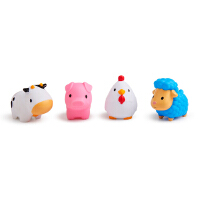 【当当自营】满趣健(munchkin)农场小动物(4只装) 儿童洗澡玩具 喷水玩具 宝宝玩水戏水玩具沐浴玩具