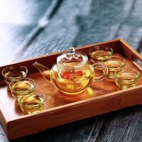 红兔子 透明过滤加热茶水分离玻璃杯高硼硅耐热玻璃六人壶250ml花茶壶茶具泡茶壶