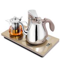 自动上水玻璃保温电茶炉泡茶套装电热水壶茶具 金色