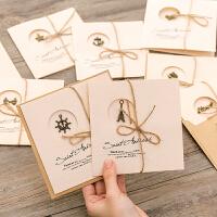 复古生日贺卡创意贺卡diy小卡片手写信纸信封学生祝福卡片
