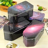 银河的另一端屋顶铁盒子 唯美星空收纳盒马口铁大容量文具盒
