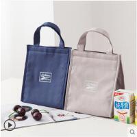 饭盒袋保温手提加厚铝箔帆布带饭的袋子防水可爱手拎午餐便当包