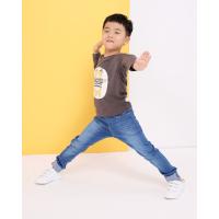 【��^59元3件】加菲��� GAFFEY KITTY 男童棕色�L袖�l衣GKTA5039