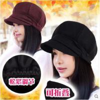 新款时尚女帽休闲贝雷帽子韩版春秋薄款百搭防晒八角帽