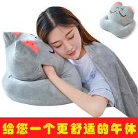 午睡枕学生儿童午休枕趴趴枕暖手睡觉趴睡枕头办公室抱枕被子两用