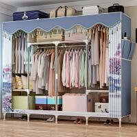 蜗家简易衣柜收纳柜25mm全钢管加厚加粗加固大空间双人布艺衣橱收纳柜子