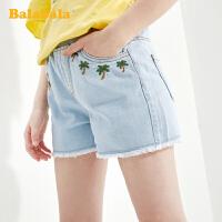 巴拉巴拉童装儿童短裤女童裤子2020新款夏装女大童纯棉牛仔裤时尚