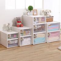 塑料透明抽屉式收纳柜子组合收纳盒收纳箱儿童衣服储物柜宝宝衣柜