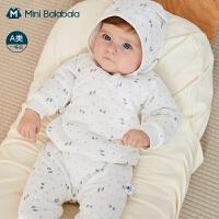 迷你巴拉巴拉宝宝连体衣2020冬季新款加厚亲肤柔软新生婴儿连体衣