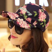 韩版网红同款时尚印花防晒鸭舌帽子 女户外运动新品遮阳女士嘻哈棒球帽 女韩国