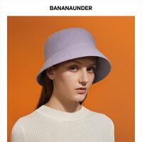 BANANAUNDER蕉下防晒保暖羊毛帽男女防紫外线百搭户外出街渔夫帽