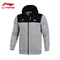 李宁卫衣男士篮球系列开衫长袖外套连帽修身休闲上衣男装运动服AWDL423