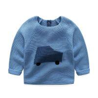 宝宝毛衣全棉圆领毛衣 秋款婴幼儿小童毛衣全棉 男童毛线衣