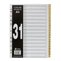 富得快 分类纸 FD-3100 A4PP索引纸 31页分页纸 隔页纸胶质分类卡