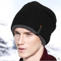 男士秋冬季针织帽韩版潮套头帽护耳包头帽情侣保暖厚户外帽