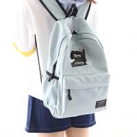 中学生背包男书包女双肩包水韩版双肩背包旅行休闲包 蓝