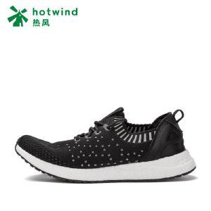 热风hotwind2018女士休闲鞋秋季新款 女鞋一脚套圆头学院风女单鞋H12W7102