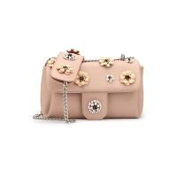 女包 款手提包粉色少女心花朵镶刻包潮流包时尚包风格 粉红色