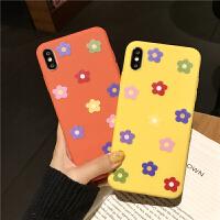 ins泫雅风彩色小花朵8plus苹果x手机壳XS Max/XR/iPhoneX/7p/6女款iphone6s硅胶全包边