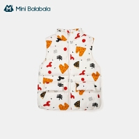 迷你巴拉巴拉马甲2020秋季新款儿童亲子女款羽绒背心保暖轻薄防风