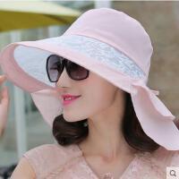 遮阳帽子女网红同款时尚韩版潮户外运动新品蕾丝防晒太阳帽女韩国沙滩大沿帽女士