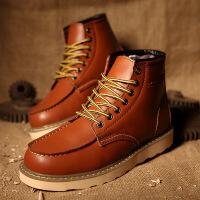 金牛骑士短靴高帮男士沙漠靴子牛皮中帮男鞋春季潮