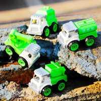 儿童大颗粒宝宝积木拼装车玩具工程车礼物男孩益智可拆卸汽车模型