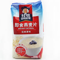 桂格(QUAKER) 即食燕麦片 经典原味 700g×2包 纯燕麦片 粗粮谷物早餐麦片