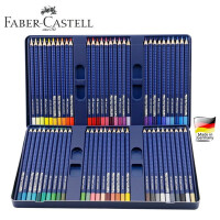德国辉柏嘉 12 24 36 60色三角点阵水溶彩色铅笔 蓝铁盒