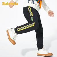 【2.26超品 3折价:47.7】巴拉巴拉男童裤子儿童春装宝宝童装2020新款长裤洋气织带运动裤潮