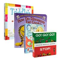 儿童学习教育绘本5册 英文原版 How Do Dinosaurs家有恐龙系列 大卫低幼绘本