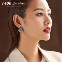 T400耳环韩国气质防过敏耳钉女个性简约 8557