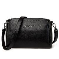 新款中年女包妈妈包单肩斜跨包皮包小斜背包女士包包2018新款手提两用 黑色 1003