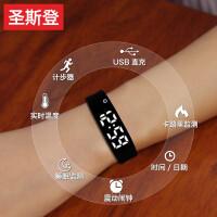 电子表男女孩学生韩版简约潮流机械休闲大气儿童智能手环运动手表