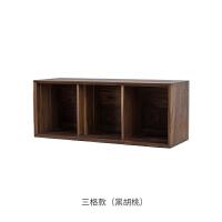 熹山工房实木书柜自由组合书柜储物柜北欧简约格子柜实木收纳柜 0.8-1米宽